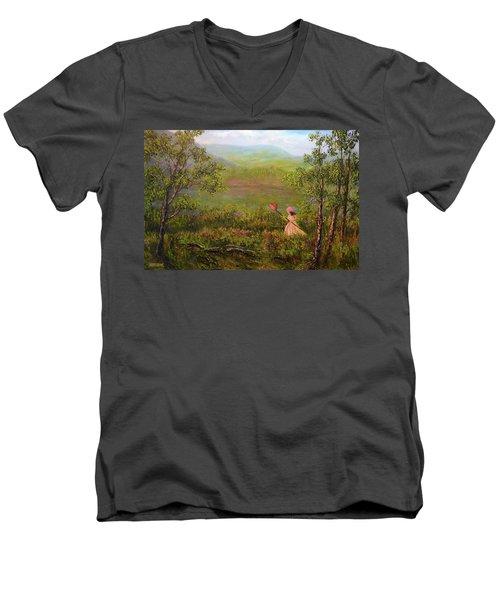 Catching Butterflys Men's V-Neck T-Shirt