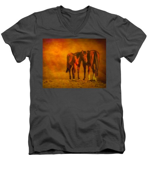Catching The Last Sun Digital Painting Men's V-Neck T-Shirt