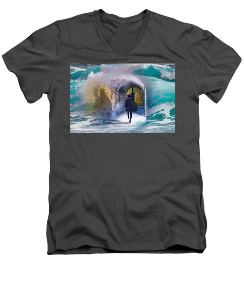 Catching The Tube With My Guitar Men's V-Neck T-Shirt