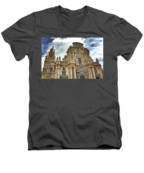 Catedral De Murcia Men's V-Neck T-Shirt