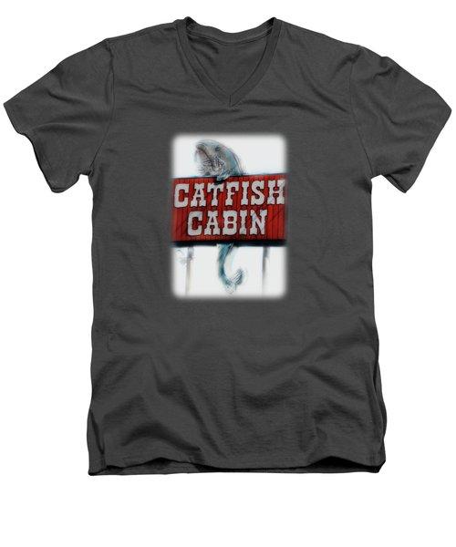 Catfish Cabin  Men's V-Neck T-Shirt