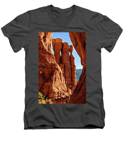 Cathedral 07-061 Men's V-Neck T-Shirt