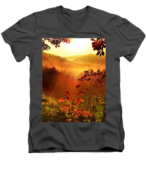 Cathedral Of Light - Special Crop Men's V-Neck T-Shirt by Rob Blair