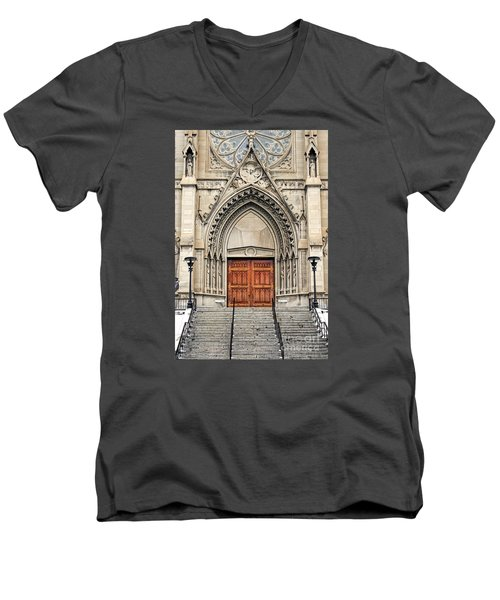 Cathedral Of St Helena Men's V-Neck T-Shirt
