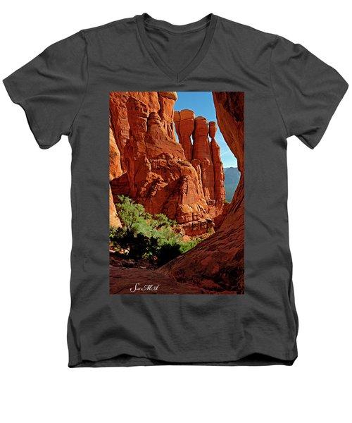 Cathedral Rock 06-124 Men's V-Neck T-Shirt