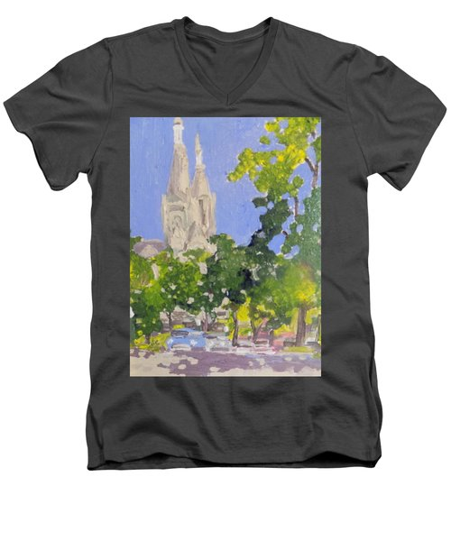 Cathedral Men's V-Neck T-Shirt by Rodger Ellingson