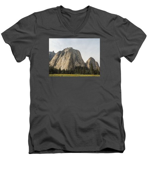 Cathedral Spires Yosemite Valley Yosemite National Park Men's V-Neck T-Shirt