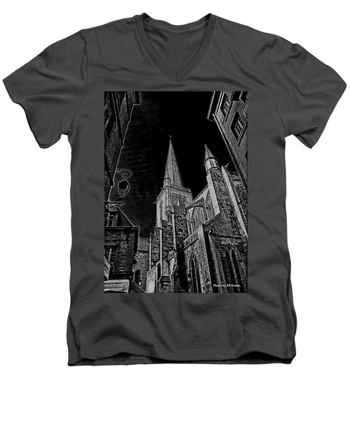 Men's V-Neck T-Shirt featuring the photograph Cathedrale St/. Vincent by Elf Evans