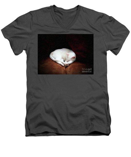 Catnap Men's V-Neck T-Shirt by John Kolenberg