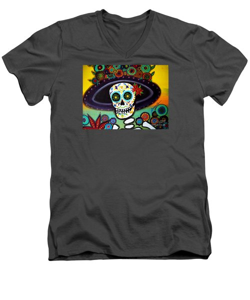 Catrina Men's V-Neck T-Shirt by Pristine Cartera Turkus