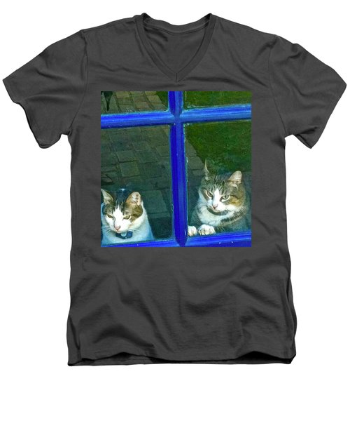 Cats On Baylor Street Men's V-Neck T-Shirt