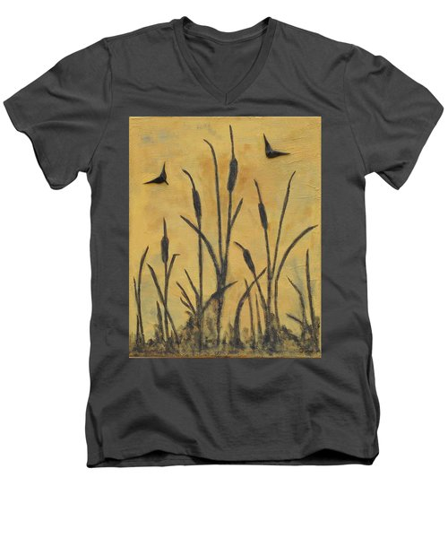 Cattails I Men's V-Neck T-Shirt by Trish Toro