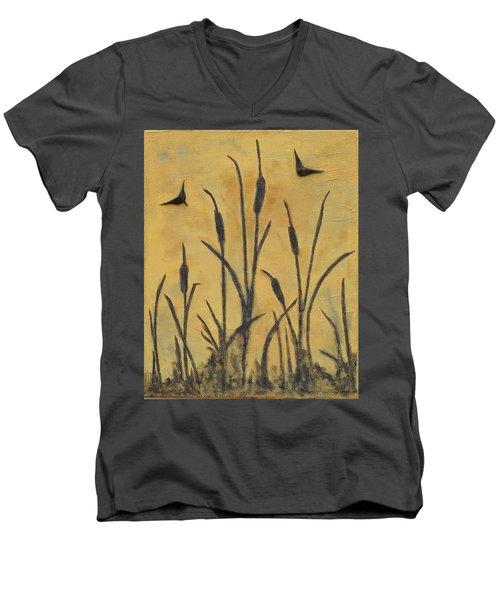 Cattails I Men's V-Neck T-Shirt