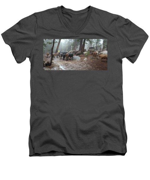 Cattle Moving Men's V-Neck T-Shirt