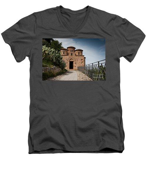 Cattolica Di Stilo, Men's V-Neck T-Shirt