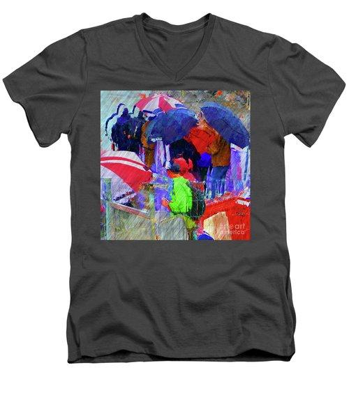 Caught In A Shower Men's V-Neck T-Shirt