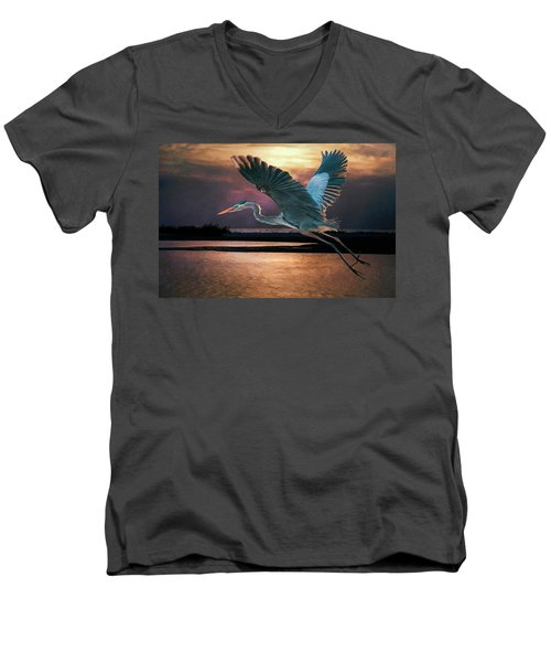 Caught In The Afterglow Men's V-Neck T-Shirt