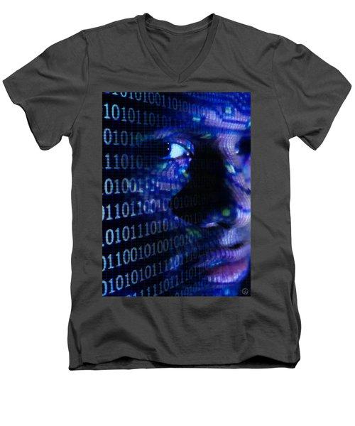 Caught In The Net Men's V-Neck T-Shirt