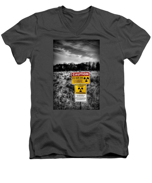 Caution Men's V-Neck T-Shirt