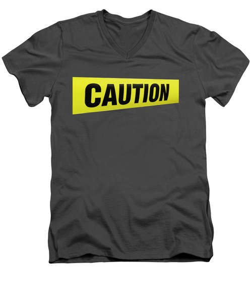 Caution Tape Men's V-Neck T-Shirt