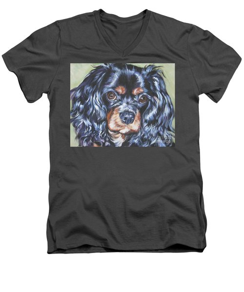 Cavalier King Charles Spaniel Black And Tan Men's V-Neck T-Shirt