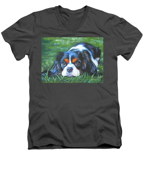 Cavalier King Charles Spaniel Tricolor Men's V-Neck T-Shirt