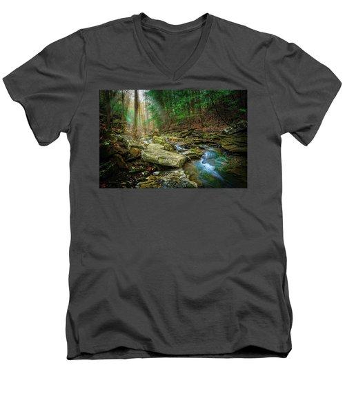 Cave Branch #9 Men's V-Neck T-Shirt
