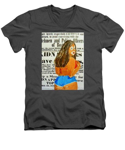 Cece Caution Men's V-Neck T-Shirt