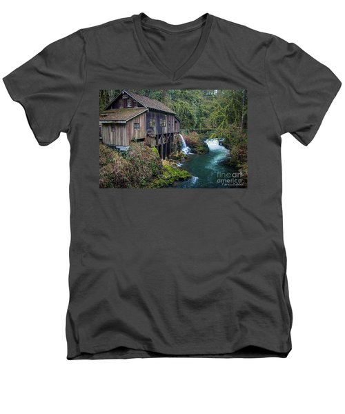 Cedar Grist Mill Men's V-Neck T-Shirt