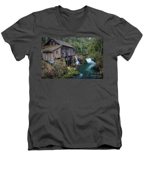 Cedar Grist Mill Men's V-Neck T-Shirt