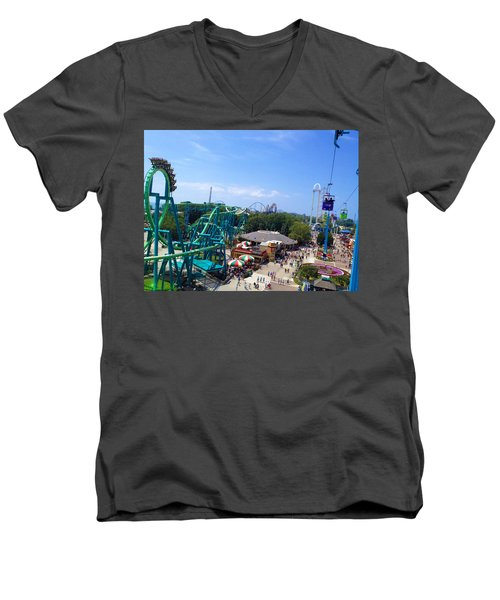 Cedar Point Amusement Park Men's V-Neck T-Shirt