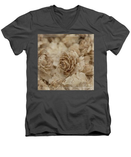 Cedar Rose Square - 3347 Men's V-Neck T-Shirt