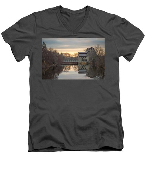 Cedarburg Mill Men's V-Neck T-Shirt