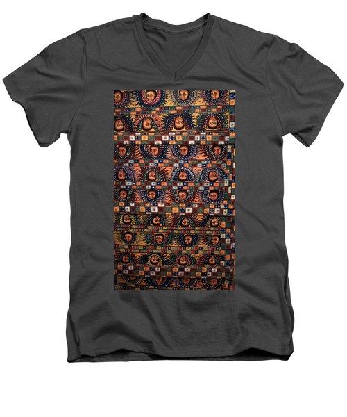 Ceiling Of Angels, Abba Pantaleon Monastery  Men's V-Neck T-Shirt