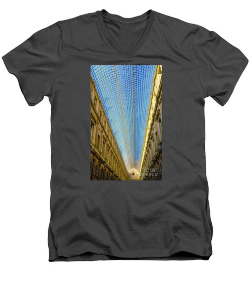 Men's V-Neck T-Shirt featuring the photograph Ceiling  by Pravine Chester