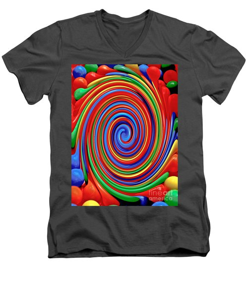 Celebrate Life And Have A Swirl Men's V-Neck T-Shirt