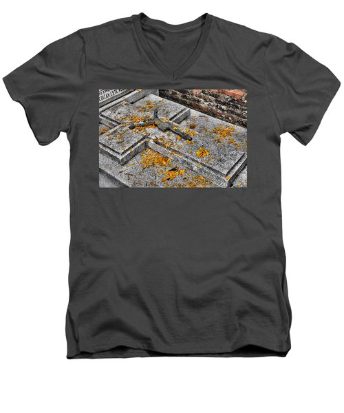 Men's V-Neck T-Shirt featuring the photograph Celebrating The Day Of The Dead by Jim Walls PhotoArtist