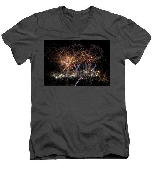 Men's V-Neck T-Shirt featuring the photograph Celebration by Alex Lapidus