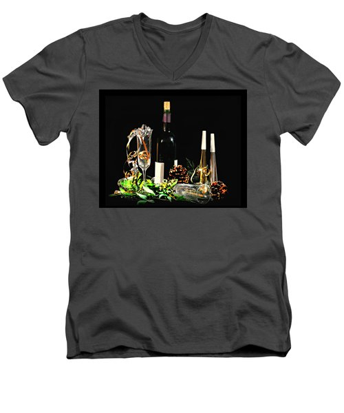 Men's V-Neck T-Shirt featuring the photograph Celebration by Diana Angstadt