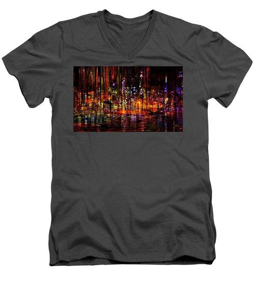 Celebration In The City Men's V-Neck T-Shirt