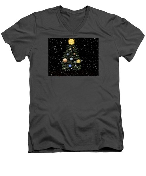 Celestial Christmas Men's V-Neck T-Shirt