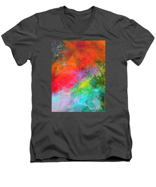 Fantasies In Space Series Painting. Celestial Concerto. Painting.  Men's V-Neck T-Shirt