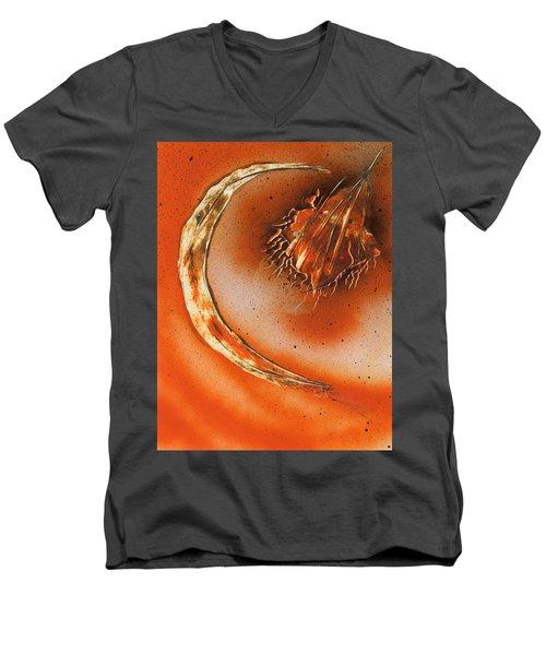Celestial Crescent Moon Men's V-Neck T-Shirt
