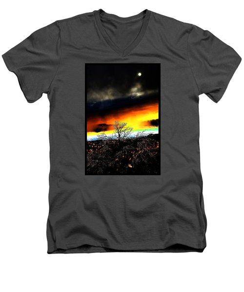 Men's V-Neck T-Shirt featuring the photograph Celestial Tsunamis by Susanne Still