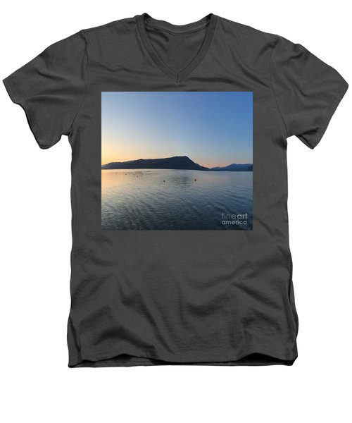 Men's V-Neck T-Shirt featuring the photograph Celista Sunrise 2 by Victor K