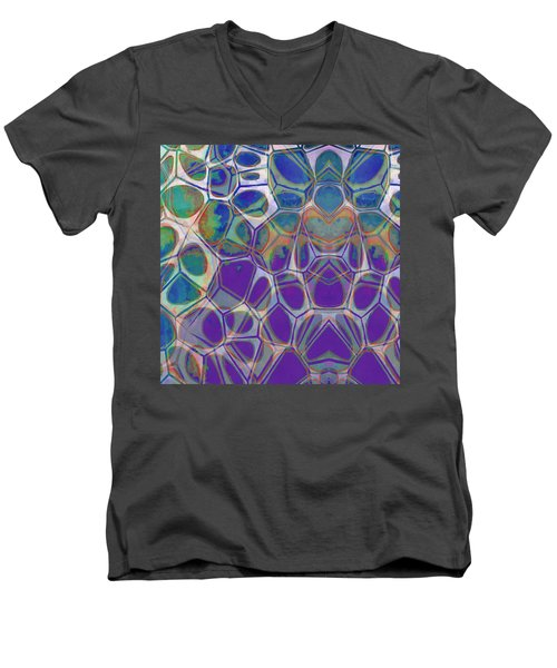 Cell Abstract 17 Men's V-Neck T-Shirt by Edward Fielding