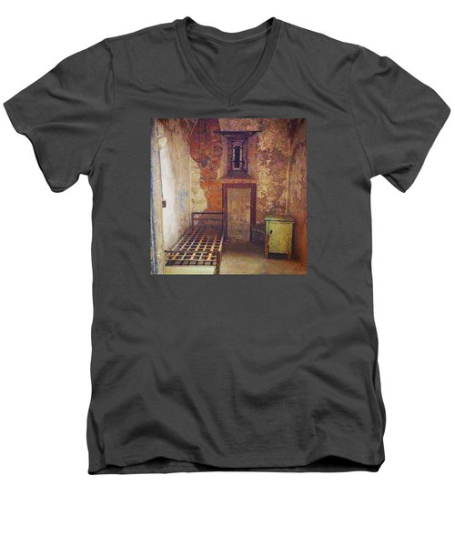 Cell At Eastern State Penitentiary Men's V-Neck T-Shirt
