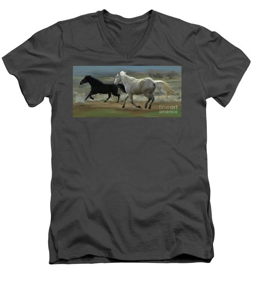 Cello And Greyboy Playing Men's V-Neck T-Shirt