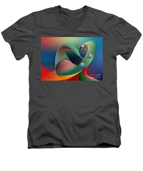 Cells Path Men's V-Neck T-Shirt