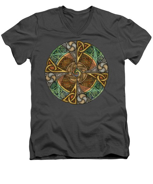 Celtic Aperture Mandala Men's V-Neck T-Shirt